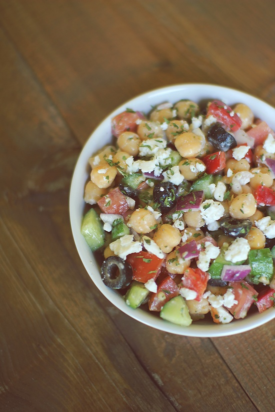 Cucumber And Tomato Salad With Marinated Garbanzo Beans ...
